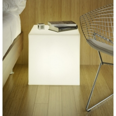 Cubo-mesa de luz luminoso led BIG